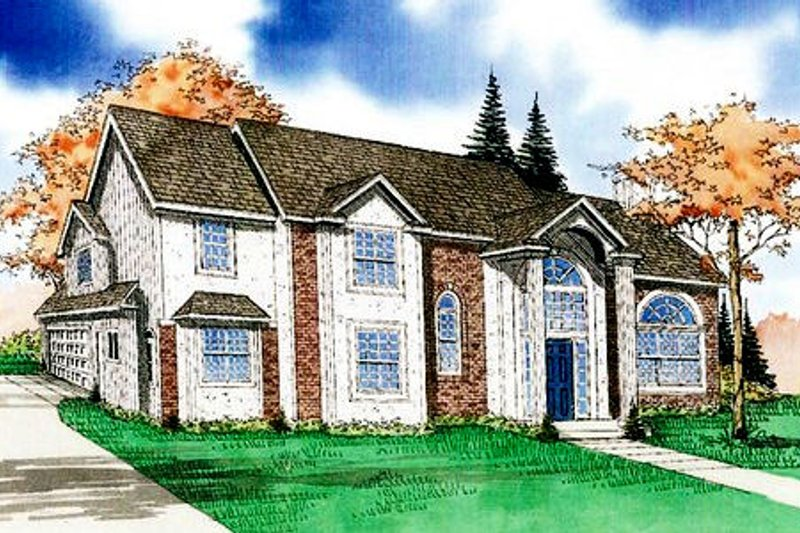 Traditional Style House Plan - 3 Beds 3.5 Baths 2342 Sq/Ft Plan #405-125