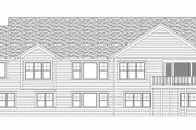 Craftsman Style House Plan - 2 Beds 2 Baths 2311 Sq/Ft Plan #51-355 Exterior - Rear Elevation