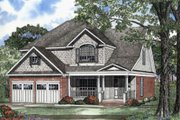 Farmhouse Style House Plan - 4 Beds 2.5 Baths 2244 Sq/Ft Plan #17-405 Exterior - Front Elevation