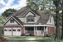 House Plan Design - Farmhouse Exterior - Front Elevation Plan #17-405