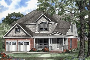 Farmhouse Exterior - Front Elevation Plan #17-405