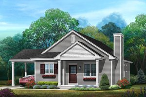 Bungalow Exterior - Front Elevation Plan #22-584