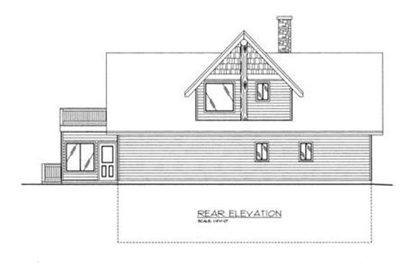 Exterior - Rear Elevation Plan #117-459 - Houseplans.com
