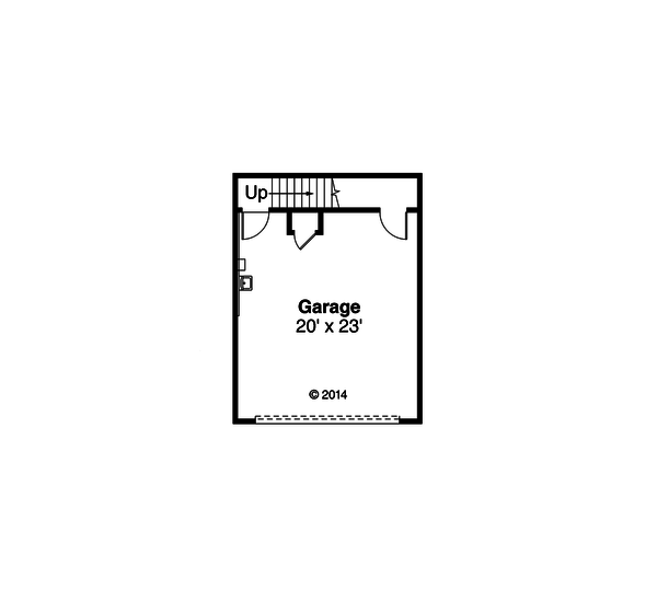 Craftsman Floor Plan - Lower Floor Plan Plan #124-923