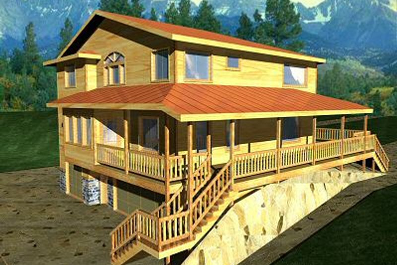 Dream House Plan - Traditional Exterior - Front Elevation Plan #117-163