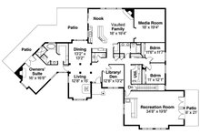 European Floor Plan - Main Floor Plan Plan #124-832