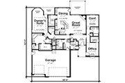 Traditional Style House Plan - 1 Beds 2 Baths 2083 Sq/Ft Plan #20-2307 Floor Plan - Main Floor Plan