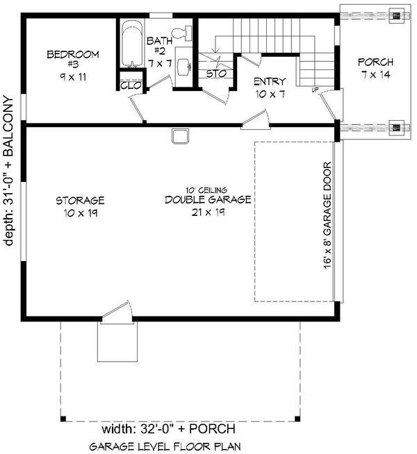 Modern Floor Plan - Lower Floor Plan Plan #932-42