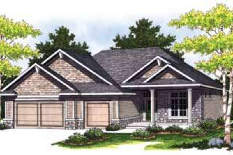 Home Plan Design - Traditional Exterior - Front Elevation Plan #70-827