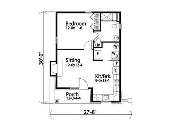 House Plan Design - Cottage Floor Plan - Main Floor Plan #22-608