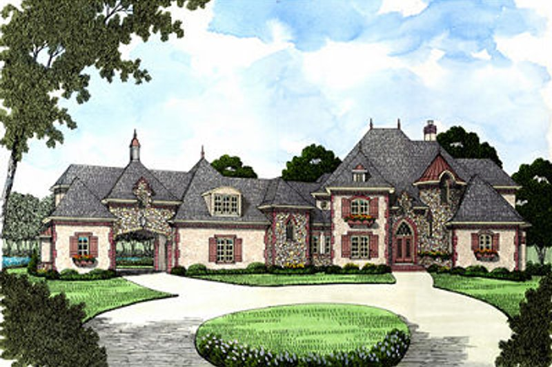 European Exterior - Front Elevation Plan #413-126