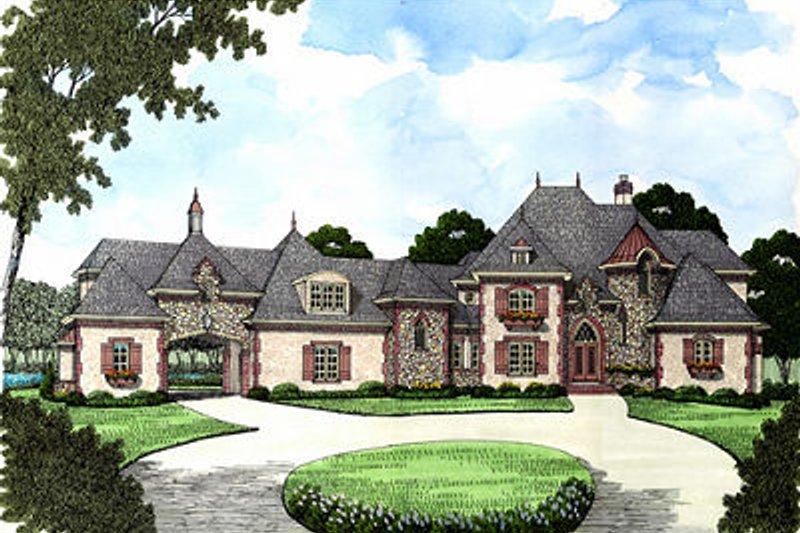 Dream House Plan - European Exterior - Front Elevation Plan #413-126