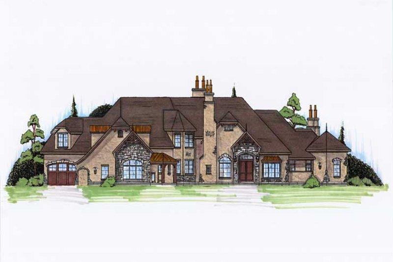 European Style House Plan - 6 Beds 7 Baths 5683 Sq/Ft Plan #5-449