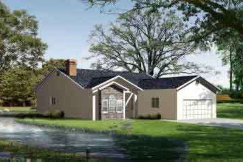 Traditional Style House Plan - 4 Beds 2 Baths 1931 Sq/Ft Plan #1-772 Exterior - Front Elevation