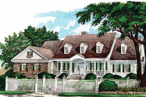 Country Exterior - Front Elevation Plan #137-156