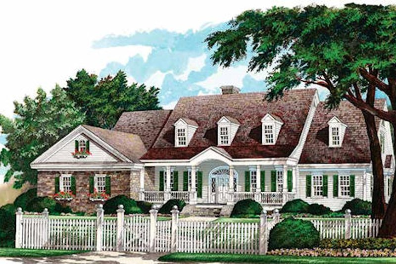 Country Exterior - Front Elevation Plan #137-156 - Houseplans.com