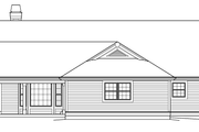 Country Style House Plan - 3 Beds 3 Baths 2800 Sq/Ft Plan #57-577 Exterior - Rear Elevation