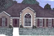 European Style House Plan - 3 Beds 2 Baths 1688 Sq/Ft Plan #69-118 Exterior - Front Elevation