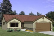 Ranch Style House Plan - 2 Beds 2 Baths 1162 Sq/Ft Plan #116-199 Exterior - Front Elevation