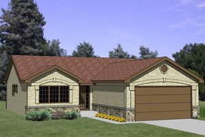 Ranch Exterior - Front Elevation Plan #116-199