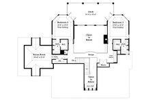 Country Floor Plan - Upper Floor Plan Plan #930-10