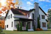 Farmhouse Style House Plan - 4 Beds 2.5 Baths 2496 Sq/Ft Plan #23-2725 Exterior - Rear Elevation