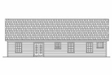 Home Plan - Ranch Exterior - Rear Elevation Plan #21-112