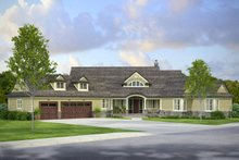 Home Plan - Country Exterior - Front Elevation Plan #124-1010
