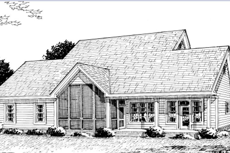 Country Exterior - Rear Elevation Plan #20-2036 - Houseplans.com
