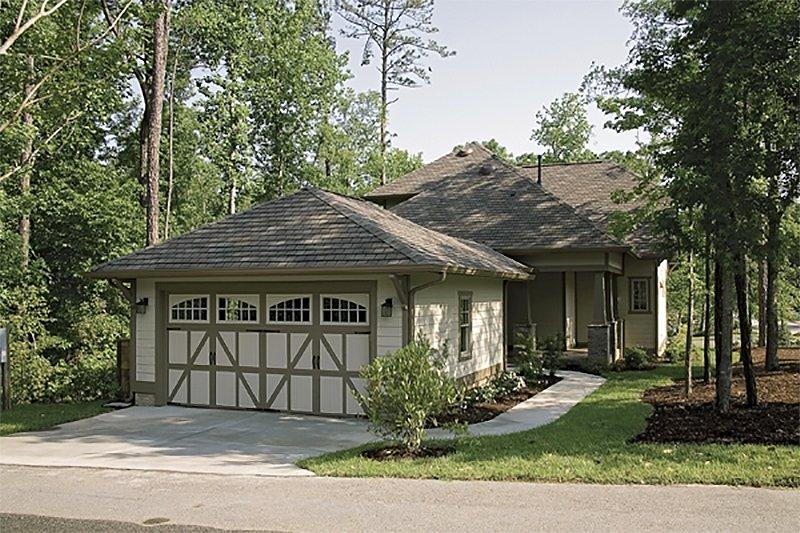 Craftsman Exterior - Rear Elevation Plan #453-9 - Houseplans.com