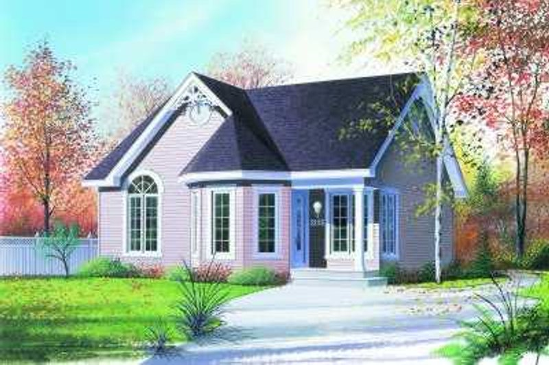 Cottage Exterior - Front Elevation Plan #23-317