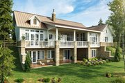 Country Style House Plan - 3 Beds 2.5 Baths 2251 Sq/Ft Plan #942-57 Exterior - Rear Elevation
