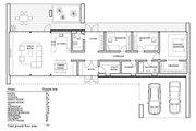 Modern Style House Plan - 3 Beds 2 Baths 1671 Sq/Ft Plan #552-5 Floor Plan - Main Floor Plan