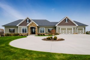 Ranch Exterior - Front Elevation Plan #70-1501