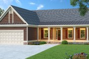 Ranch Style House Plan - 3 Beds 2 Baths 1870 Sq/Ft Plan #419-101 Exterior - Front Elevation