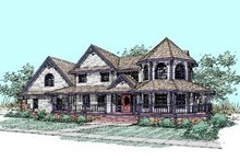 Home Plan Design - Farmhouse Exterior - Front Elevation Plan #60-286