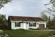 Ranch Style House Plan - 3 Beds 2 Baths 1293 Sq/Ft Plan #57-472 Exterior - Front Elevation