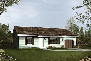 Ranch Exterior - Front Elevation Plan #57-472
