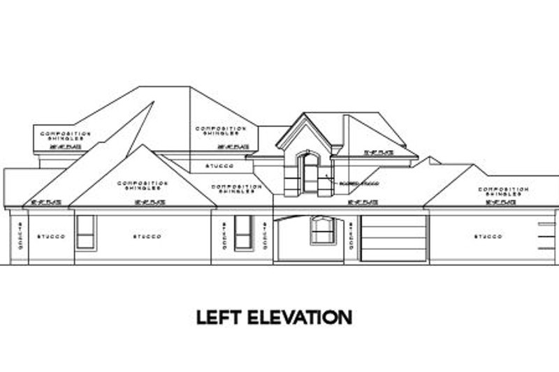 Traditional Exterior - Other Elevation Plan #61-166 - Houseplans.com