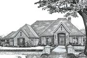European Style House Plan - 3 Beds 2.5 Baths 2547 Sq/Ft Plan #310-844 Exterior - Front Elevation
