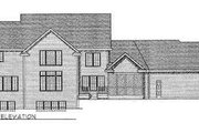 Traditional Style House Plan - 3 Beds 3.5 Baths 3100 Sq/Ft Plan #70-486 Exterior - Rear Elevation