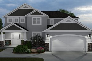 Craftsman Exterior - Front Elevation Plan #1060-57