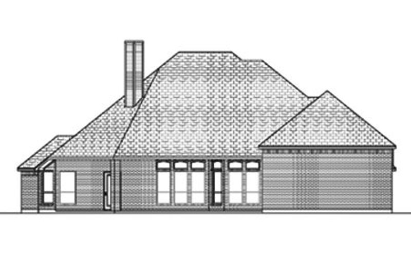 Traditional Exterior - Rear Elevation Plan #84-377 - Houseplans.com