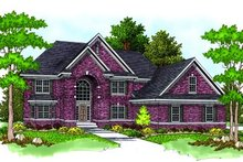 Dream House Plan - Traditional Exterior - Front Elevation Plan #70-554