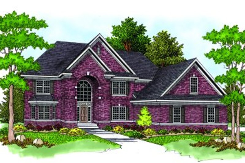 Traditional Exterior - Front Elevation Plan #70-554 - Houseplans.com
