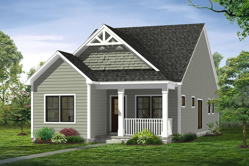 Home Plan - Traditional Exterior - Front Elevation Plan #1057-7