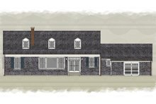 Home Plan - Colonial Exterior - Rear Elevation Plan #489-9