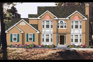 Dream House Plan - Colonial Exterior - Front Elevation Plan #3-231