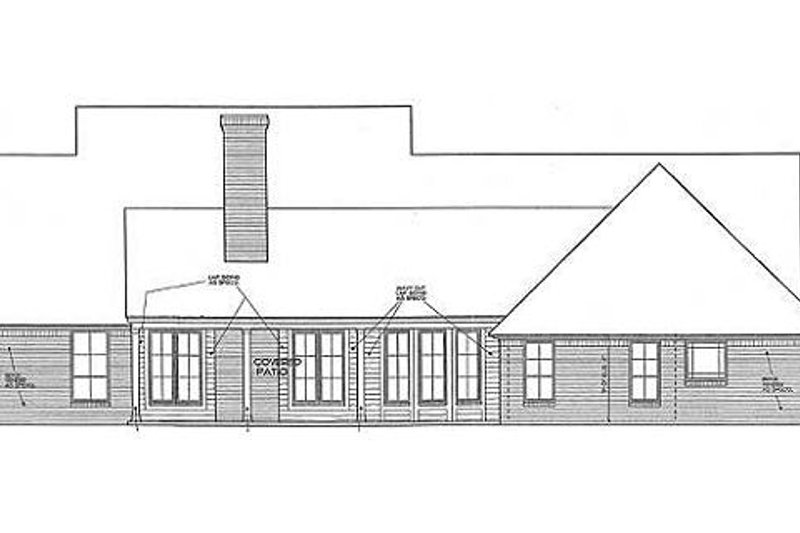 Traditional Exterior - Rear Elevation Plan #310-691 - Houseplans.com