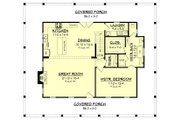 Country Style House Plan - 3 Beds 2.5 Baths 2084 Sq/Ft Plan #430-150 Floor Plan - Main Floor Plan